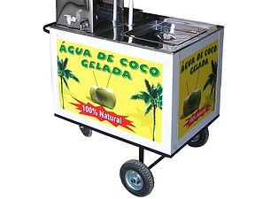 Carro para agua coco - Modelo novo - 94