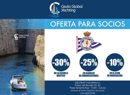 Oferta para socios en Ceuta Global Yachting