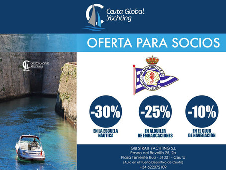 Oferta para socios en Ceuta Global Yachting