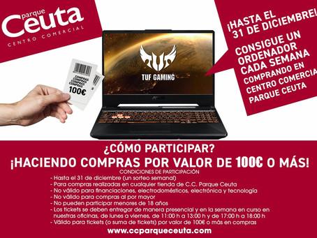 'Parque Ceuta' sortea ordenadores portátiles
