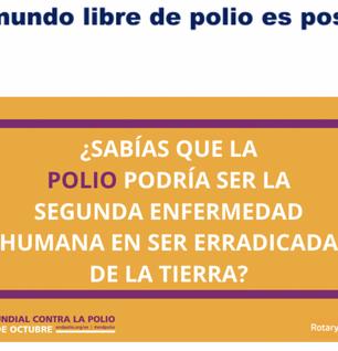 """El Club Rotario de Ceuta celebra el """"histórico avance hacia un mundo libre de polio"""""""