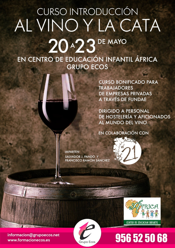 Curso introducción al vino y la cata - 20 a 23 mayo