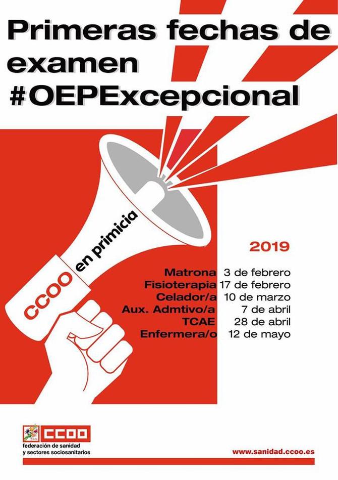 Primeras fechas de examen #OEPExcepcional
