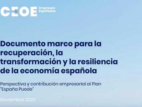 Documento marco para la recuperación, la transformación y la resiliencia de la economía española