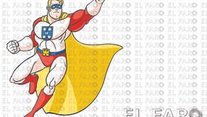 Un superhéroe sobrevuela Ceuta
