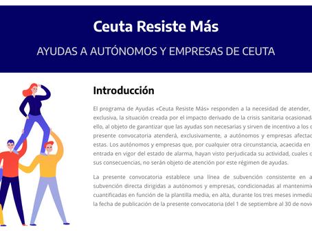 """Programas """"Ceuta resiste más"""" y """"Ceuta resiste empleo"""""""