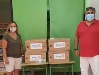 Rotary Club Ceuta dona 400 libros a la biblioteca del centro de menores de Punta Blanca