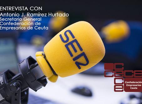 Entrevista al Secretario General en Cadena Ser Ceuta