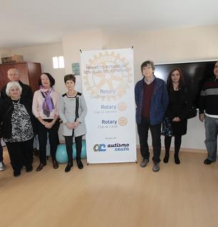 Los 'clubes del Estrecho' de Rotary visitan la Asociación Autismo Ceuta