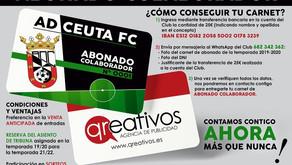 La AD Ceuta FC crea la figura del carnet de abonado colaborador, patrocinado por Qreativos