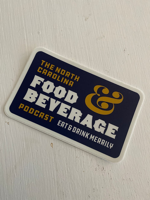 NC Food & Bev Podcast sticker