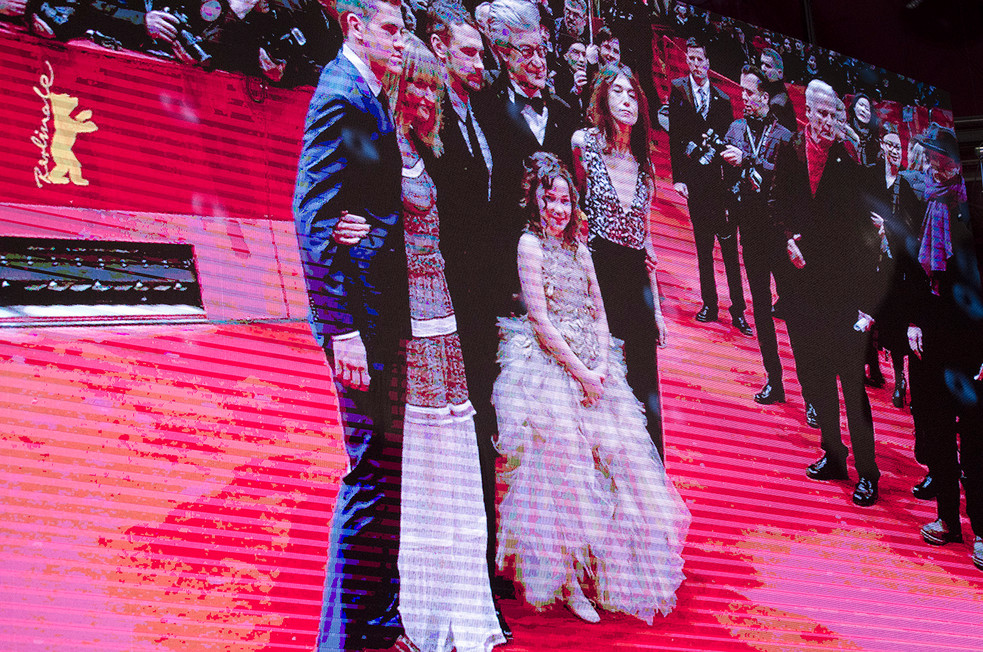 Picture of main screen streaming the live of the Berlinale film Festival