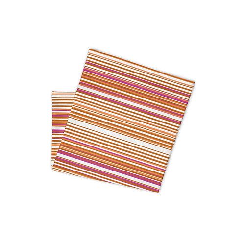 Orange Pink Brown Serape Print Neck Gaiter