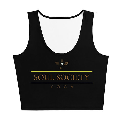 OG Peace Bird SSY Fitted Black Crop Top