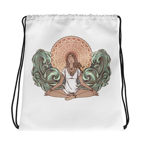 Yoga Girl Drawstring Bag