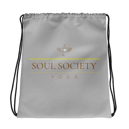 OG Peace Bird Grey Drawstring Bag