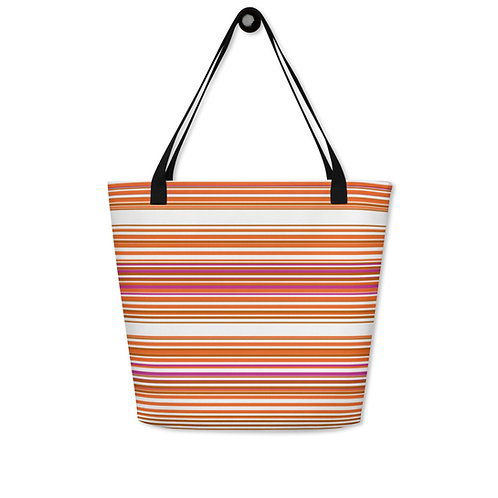 Orange|Pink|Brown Serape Print Bag