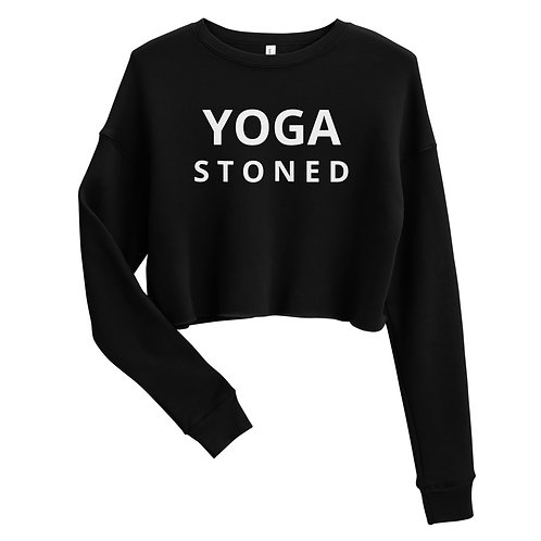 Yoga Stoned Cropped Sweatshirt