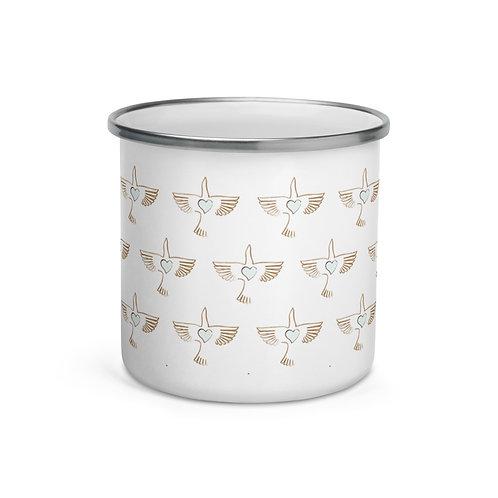 Peace Bird Enamel Mug