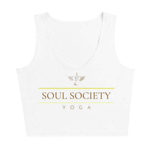 OG Peace Bird SSY White Fitted Crop Top