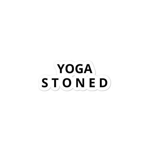 Yoga Stoned in Black Sticker