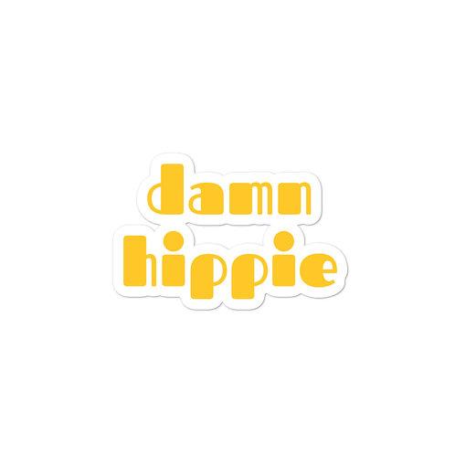 Damn Hippie in Yellow Sticker
