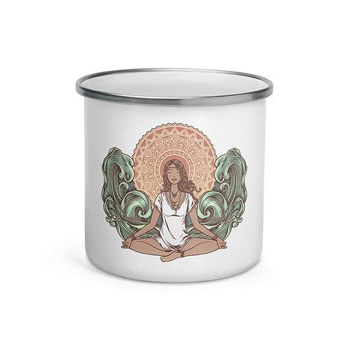 Yoga Girl Enamel Mug