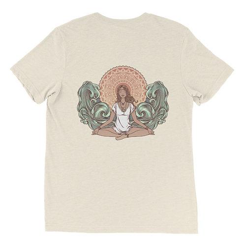 Yoga Girl Back Unisex Short Sleeve t-shirt