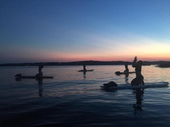 Sunset SUP on the lake