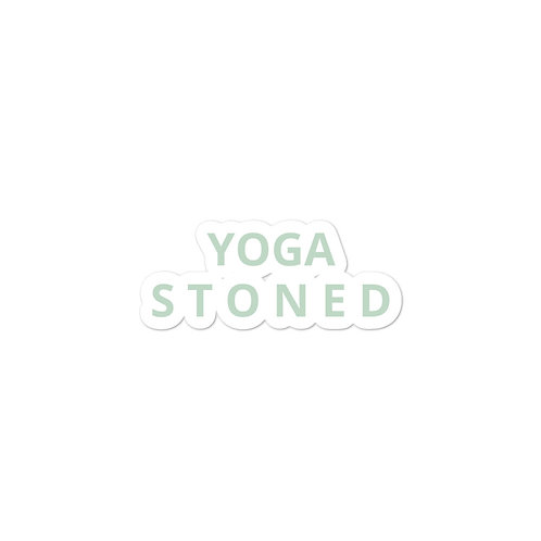 Yoga Stoned in Green Sticker