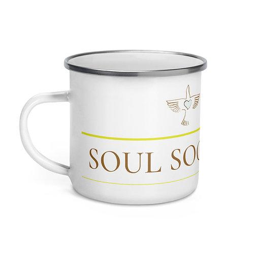 Soul Society Yoga Enamel Mug
