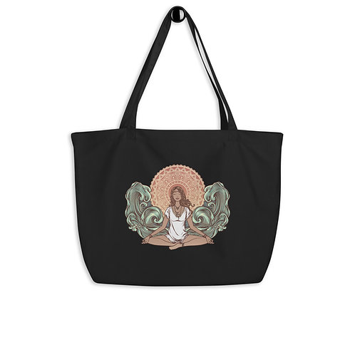 Yoga Girl Large Organic Tote Bag