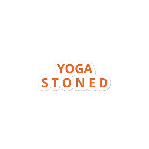 Yoga Stoned in Orange Sticker
