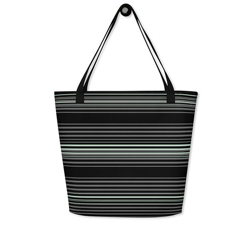 Grey|Green on Black Serape Print Bag