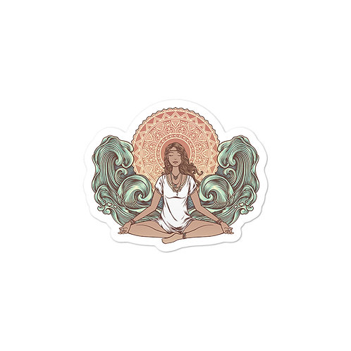 Yoga Girl Sticker