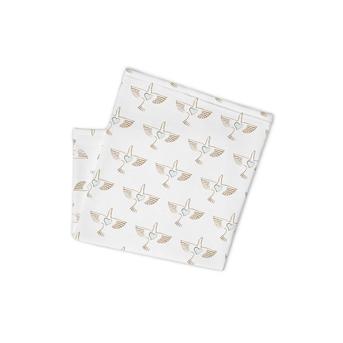 OG Peace Bird Print White Neck Gaiter