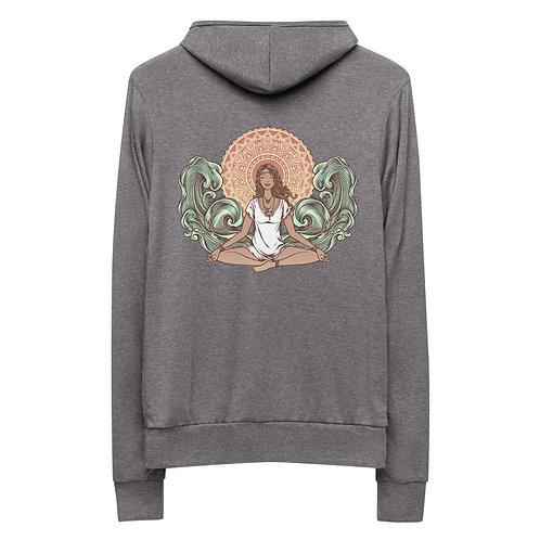 Yoga Girl Back Only Unisex Zip Hoodie