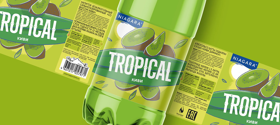 Tropical дизайн этикетки лимонада брендинговое агентство Brand Brothers