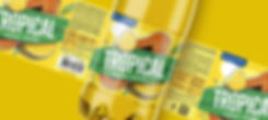 Tropical дизайн этикетки лимонада брендинговое агентство Brand BrothersNiagara ananas bottle_-min.jpg