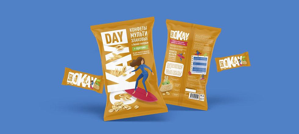 Day Okay разработка бренда, дизайн упаковки