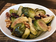s-roasted beet & brussel sprouts, cranbe