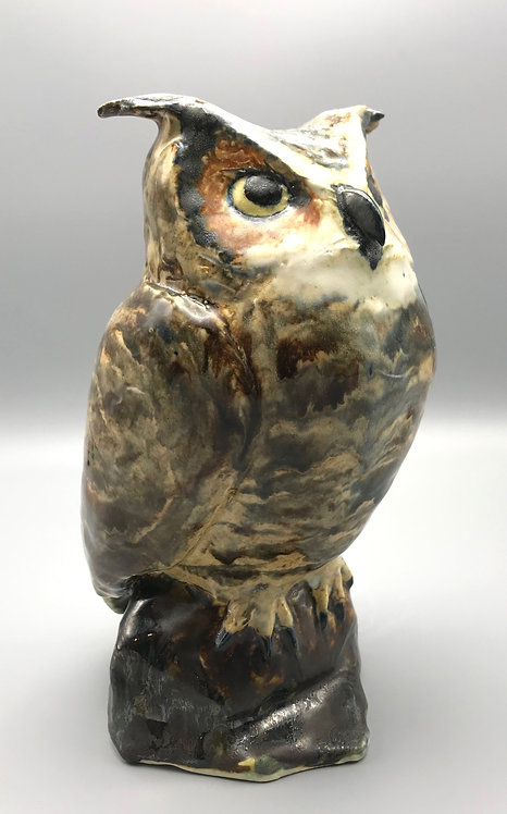 Free Standing Great Horned Owl