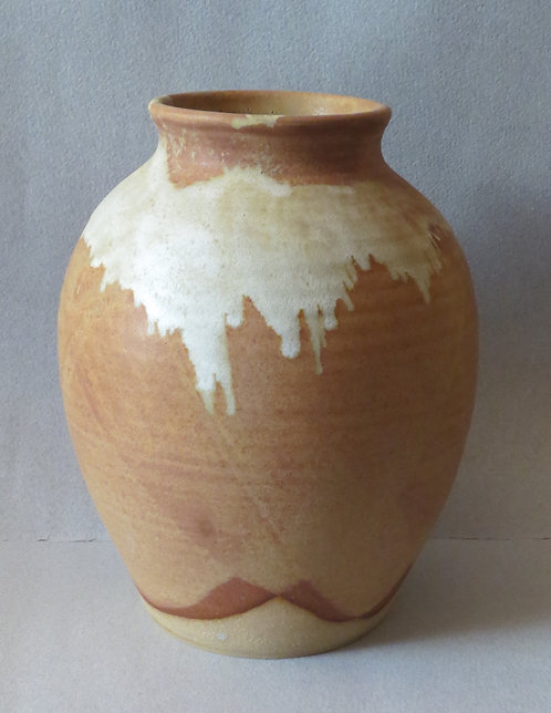 Vase with Shamo and White Glazes
