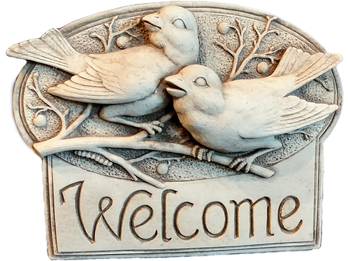 """Berry Birds Welcome"" by Carruth Studio"