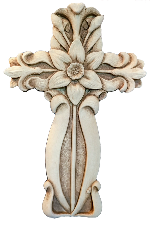 """Garden Floral Cross"" by Carruth Studio"