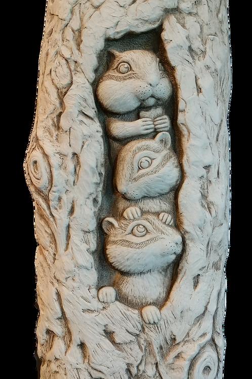 """Three Little Chipmunks"" by Carruth Studio"