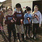 Our 7th Place team in our October inhouse Pony Club competition