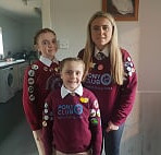 3 Squirrell sisters heading off to the Area quiz