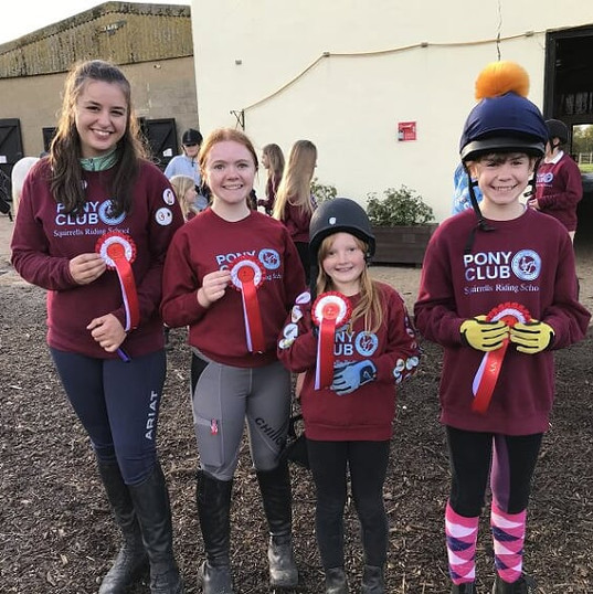 2nd place in our inhouse Pony Club competiton