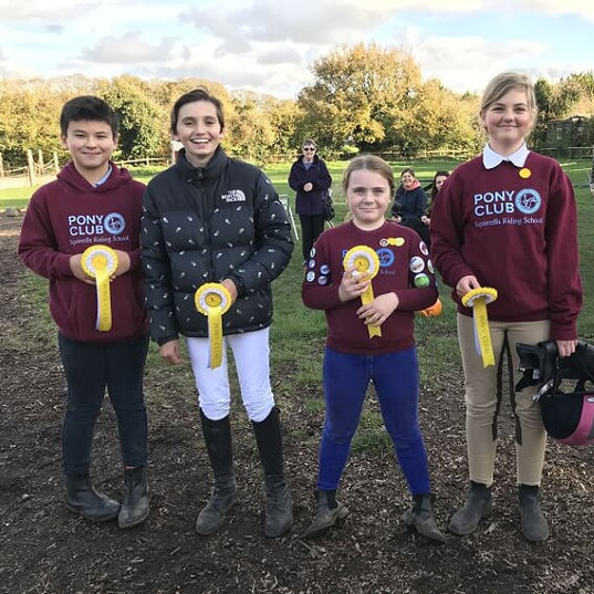 3rd place in our October inhouse Pony Club competition